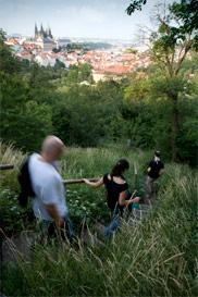 Prag: Treppe im Grünen